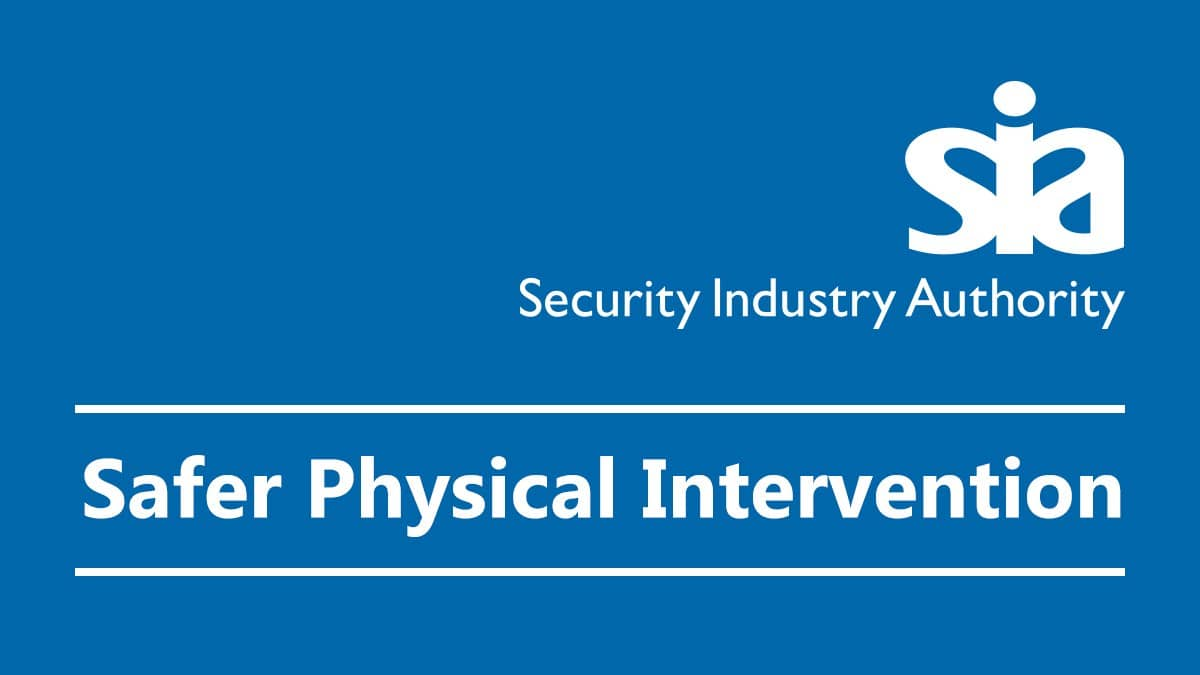 SIA – Safer Physical Intervention for Door Supervisors