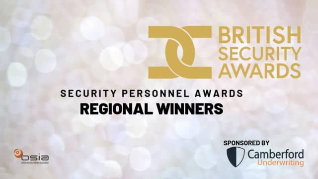 Four Colleagues Win British Security Awards