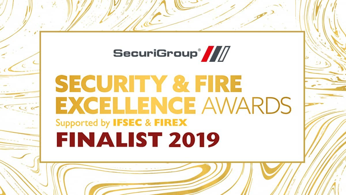 Finalist in Security & Fire Excellence Awards 2019
