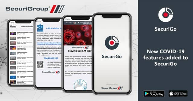 New COVID-19 features added to our Mobile App, SecuriGo
