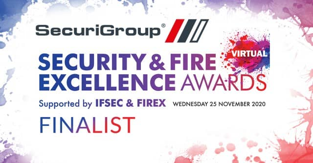 Finalist in Security & Fire Excellence Awards 2020